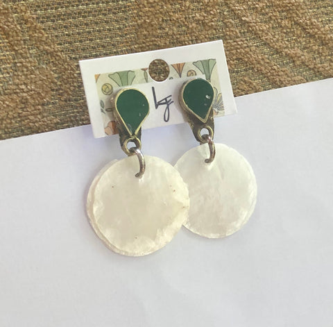Mother of Pearl Post Earrings