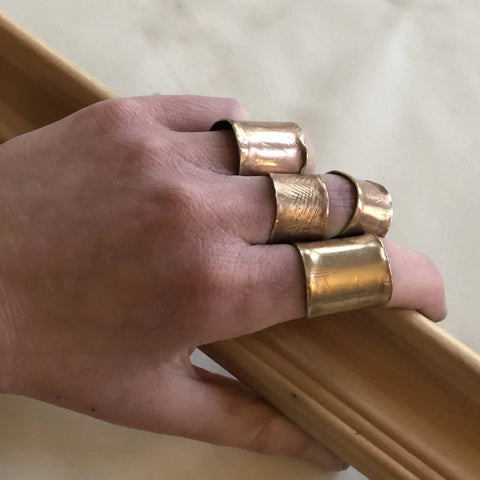 Laura James Jewelry Handmade Tube Rings