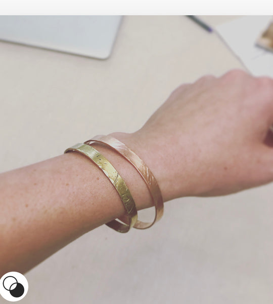 Skinny Brass Stack Bracelet | Laura James Jewelry