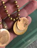 Vintage Double Coin Necklace on Ball Chain
