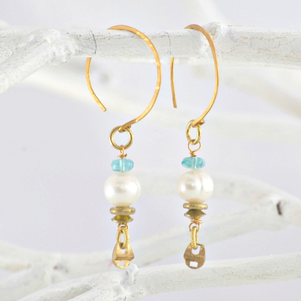 Handmade Artisan Pearl Earrings | Laura James Jewelry