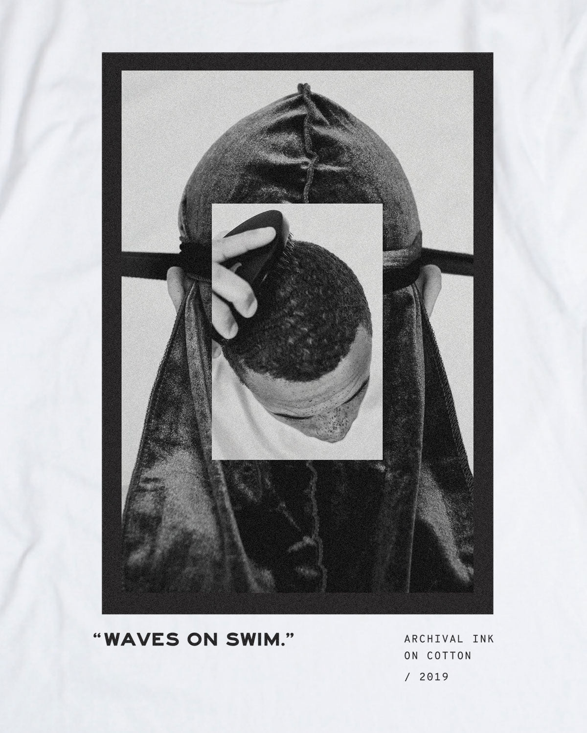 Waves on Swim Tee - White