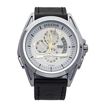 Sveston Leather Band Sports SV-8203 (Black)