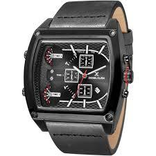 Daniel Klein 11161-5 Leather Band Analog Chrono Watch- (Black) - Marheba