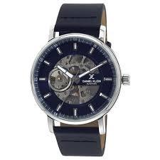 Daniel Klein 11447-2 Leather Band Analog Watch-(Blue) - Marheba