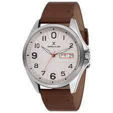 Daniel Klein 11647-3 Leather Band Analog Watch-(Brown) - Marheba
