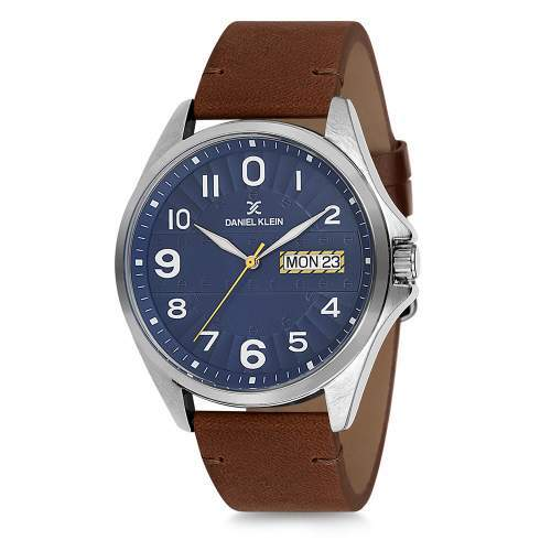 Daniel Klein 11647-7 Leather Band Analog Watch- (Brown) - Marheba