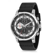 Daniel Klein 11749-5 Leather Band Analog Chrono Watch-(Black) - Marheba