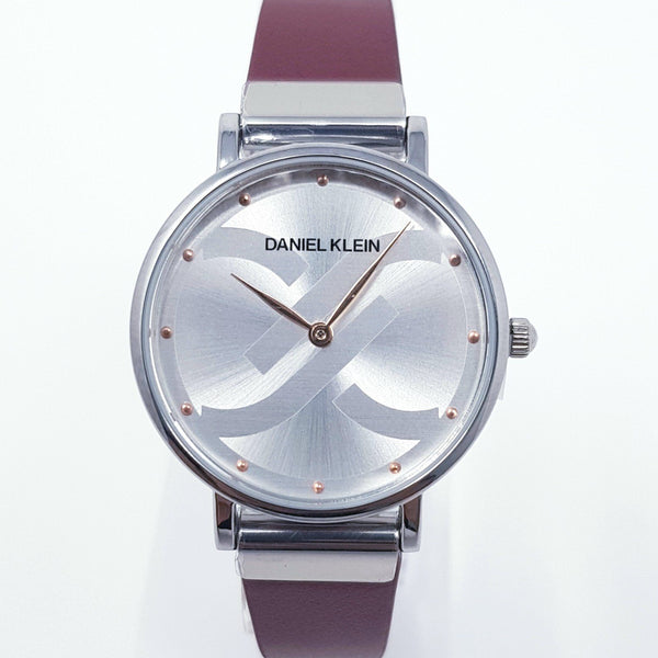 Daniel Klein 11824-5 Leather Band Women Analog Watch-(Red) - Marheba
