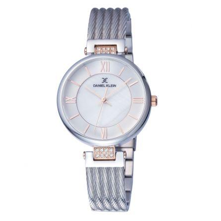 Daniel Klien 11901-1 Metal Band Women Analog Watch-Steel - Marheba