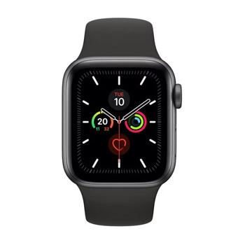 Apple Watch Series 5 GPS 44mm Space Grey Aluminium Case with Black Sport Band - Marheba
