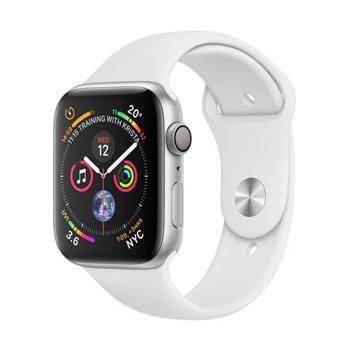 Apple Watch Series 4 GPS 40mm Silver Aluminium Case With White Sports Band - Marheba