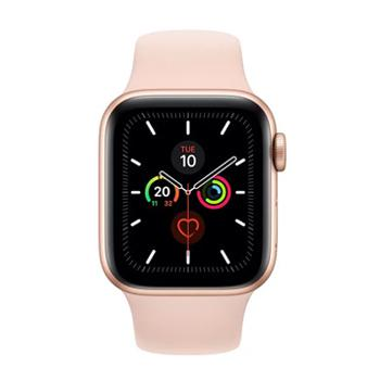 Apple Watch Series 5 GPS, 40mm Gold Aluminium Case with Pink Sand Sport Band - Marheba