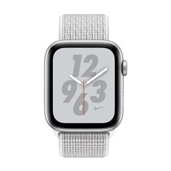 Apple Watch Nike+ Series 4 GPS, 40mm Silver Aluminium Case With Summit White Nike Sport Loop - Marheba
