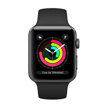 Apple Watch Series 3 GPS – 38mm Space Grey Aluminium Case With Black Sport Band - Marheba