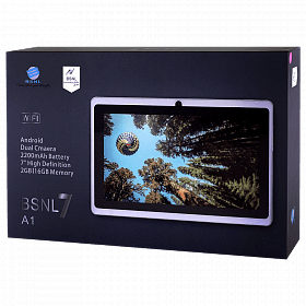 BSNL A-1 Tablet 7 inch 16 GB,2 GB,Dual Sim,Quad core, bluetooth (Black)