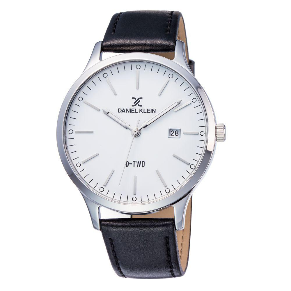 Daniel Klein 11920-3 Leather Band Analog Watch -(Black) - Marheba