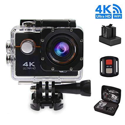 4K WiFi Action Camera Waterproof Camera -HD 1080p - Marheba