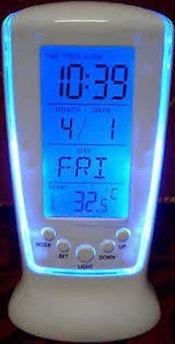 Mk Square Clock 510 Digital Alarm Temperature Calender Table Clock - Marheba
