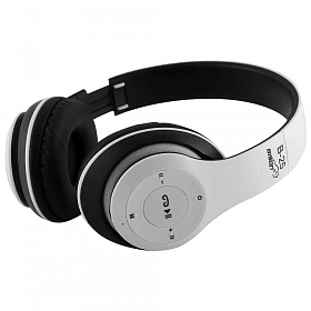 Bison Wireless Bluetooth Stereo Headphones ,B-25(White) - Marheba