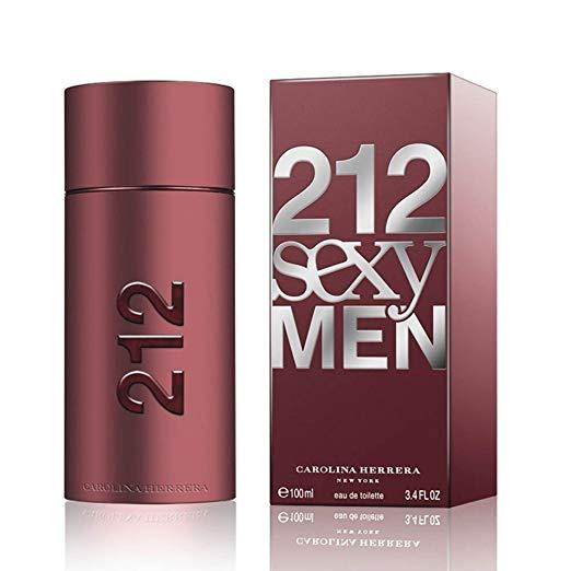 212 Sexy Men by Carolina Herrera for Men - Eau de Toilette, 100ml - Marheba