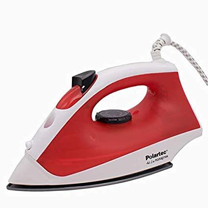 Polartec Non-Stick Sole Plate 1000 Watts Multi-Function With Water Spray Dry Iron, Red PT-8011 - Marheba