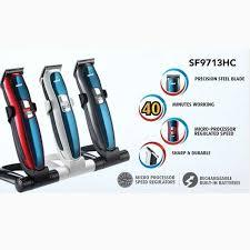 Sanford Electric Hair Trimmer SF-9713HC for Men- Red and Blue - Marheba