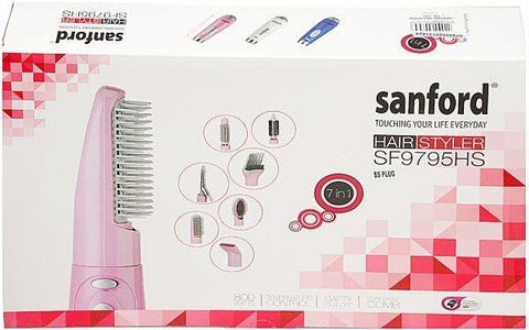 Sanford 7 in 1 Hair Styler, SF9795HS BS- White & Black - Marheba
