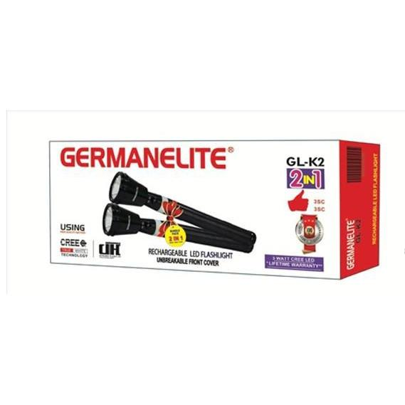 Germanelite 3 in 1 Rechargeable LED Flashlight GL-K2