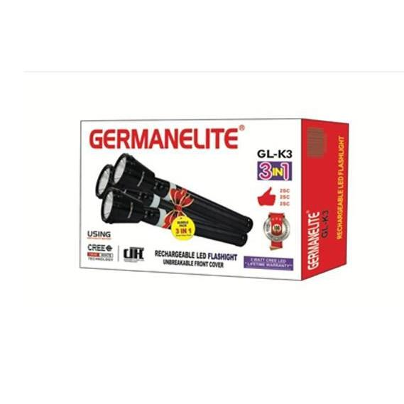 Germanelite 3 in 1 Rechargeable LED Flashlight GL-K3
