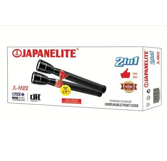 Japanelite 2 in 1 Rechargeable LED Flashlight JL-M22 - Marheba