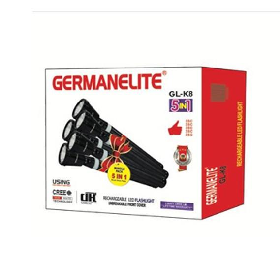 Germanelite 5 in 1 Rechargeable LED Flashlight GL-K8 - Marheba