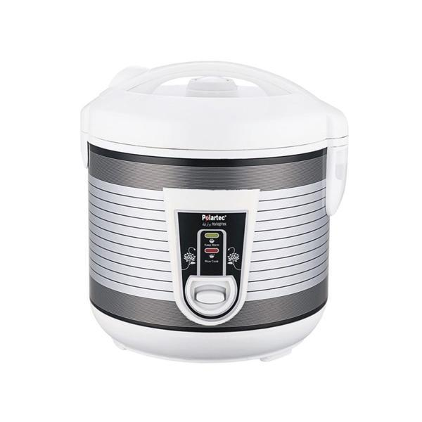 Polartec Deluxe Rice Cooker 1L PT 3362- Grey/White - Marheba