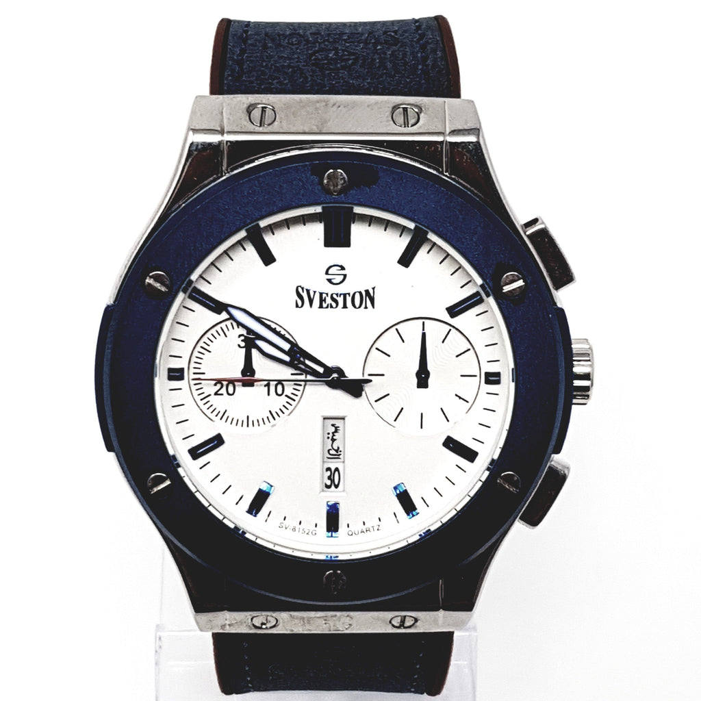 Sveston Leather Band Sports SV-8152 (Blue)