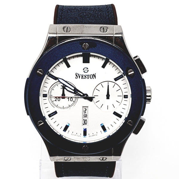 Sveston Leather Band Sports SV-8152 (Blue) - Marheba