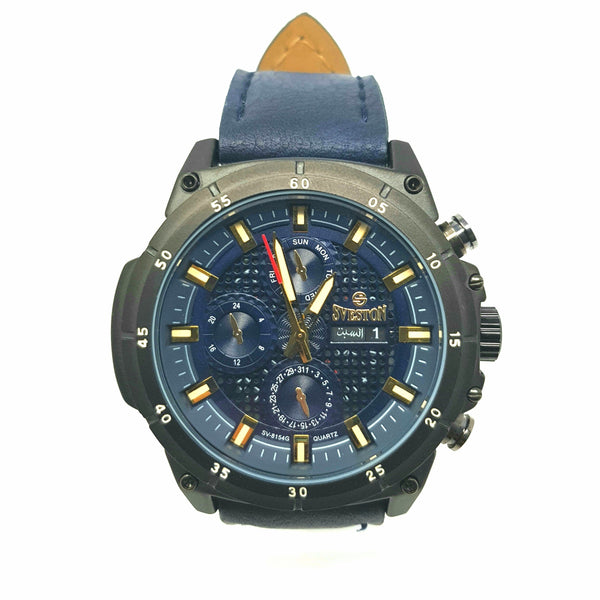 Sveston Leather Band Sports SV-8154 (Blue) - Marheba