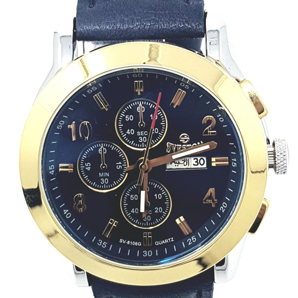 Sveston Leather Band Sports SV-8106 (Blue) - Marheba