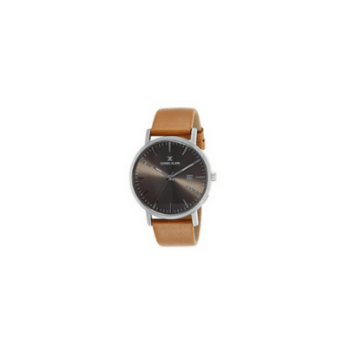 Daniel Klein 11645-7 Leather Band Analog Watch- Brown - Marheba