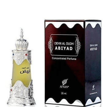 Afnan Dehn Al oudh Abiyad- 20ml Attar Concentrated Perfume Oil - Marheba