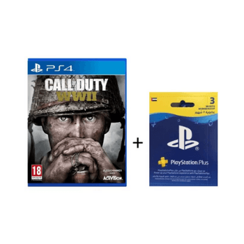 PS4 Call Of Duty WWII Game + 3 Months Playstation Plus - Marheba