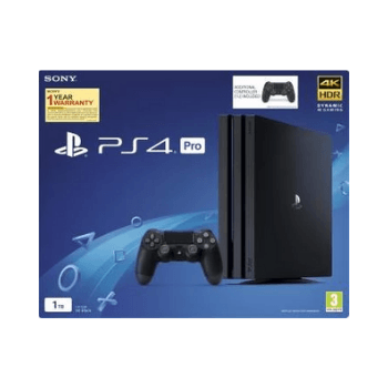 Sony PS4 PRO 1TB Gaming Console-Black - Marheba