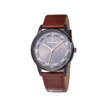 Daniel Klein 11828-6 Leather Band Analog Watch-(Brown) - Marheba