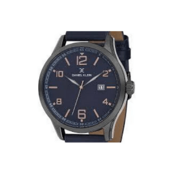 Daniel Klein 11646-4 Leather Band Analog Watch-Blue - Marheba