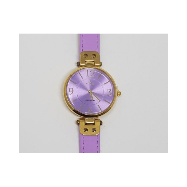 Fitron Ladies Metal Quartz Watch (Violet)-8892L - Marheba