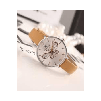 Daniel Klein 11813-7 Leather Band Women Analog Watch-(Cream) - Marheba