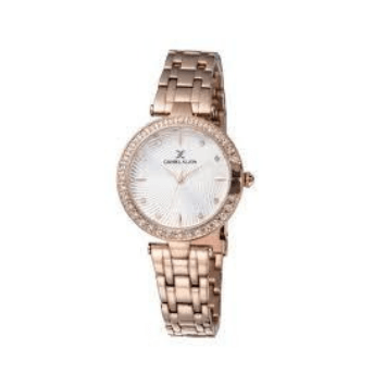 Daniel Klein 11884-2 Metal Band Women Analog Watch-(Gold) - Marheba