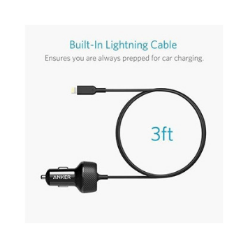 Anker PowerDrive 2 Elite with Lightning Connector Car Charger  (Warranty:18 months) - Marheba