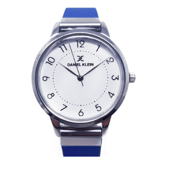 Daniel Klein 11801-4 Leather Band Women Analog Watch-(Blue) - Marheba