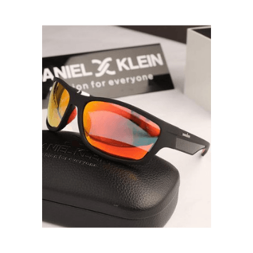 Daniel Klein Men Browline Trendy Polarized  Sunglasses DK3138-C2 - Marheba