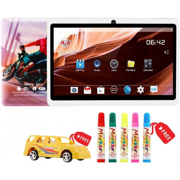 Eblu Berry B86 Kids Tablet with Free Car Toy & Sketch Colors, 7 Inch - Marheba